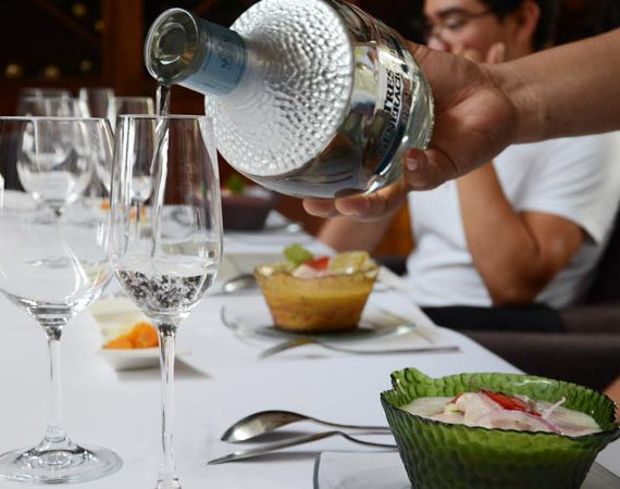 Maridaje tequila y ceviches.