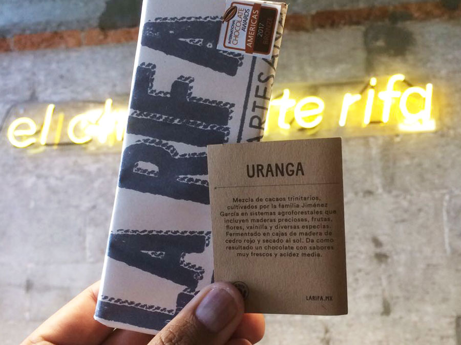 Barra de chocolate Uranga